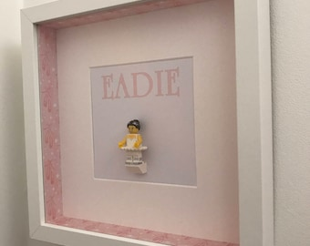 Lego - Ballerina, Personalised Gift and Minifigures Frame