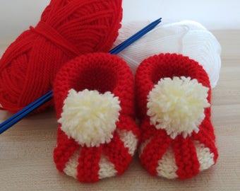 handmade knitted booties
