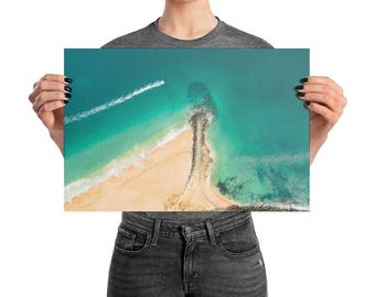 Ocean Photo | Premium Luster Photo Paper Poster  | Wave Wall Art | Coastal Decor | Large Poster | Ocean Sea Water Wall Art | Beach Print