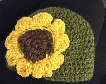 Newborn-Toddler Sunflower Hat