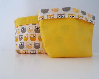 baskets reversible yellow OWL