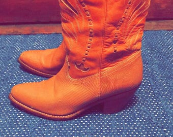 Vintage Leather Boots, size 8