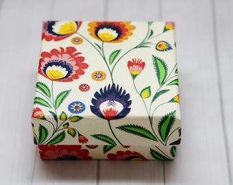 Gitf box.Handmade,decoupage,Mother's day gift,Birthday gift,Jewellery box,Gift Boxes for jewelry- Kraft Paper Box- Decorated Box- Recycled