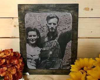 8x10 Rustic Wood Photo