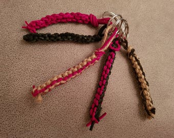 Leather/Hemp Keychain/Keyring