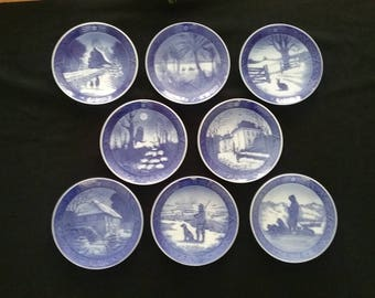 Vintage Christmas Collector Plates by Royal Copenhagan