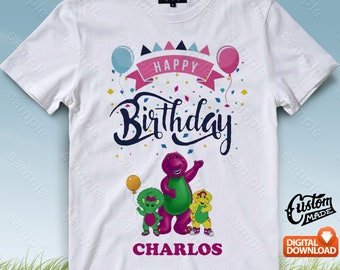 Barney And Friends Iron On Transfer, Barney And Friends Birthday Shirt DIY, Barney And Friends Printable, Personalize, Digital Files