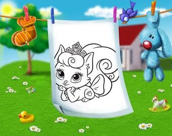 Coloring page Royal Pets-25 images-25 Royal Pets coloring pages for toddlers-paint 25 images for boys and girls-PDF file