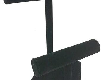 Black Velvet T Bars Bracelet Display 9 3/8x10 7/8H