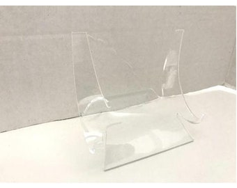 X-Large Acrylic Easel Display Stand 3 1/2Hx3 7/8Wx3 7/8D Various Sizes