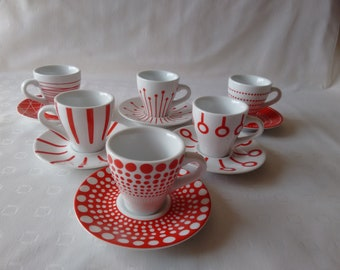 Bodum Paula Espresso Cups & Saucers by Miya Suwa