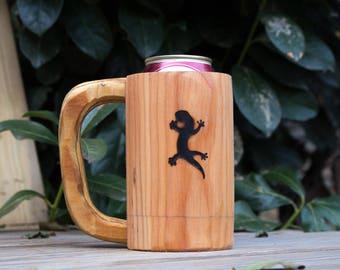 Wooden Mug Kozee - Gecko