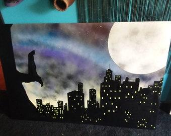 Batman Painting 48×32 in