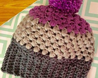 Crochet Pom pom beanie / hat