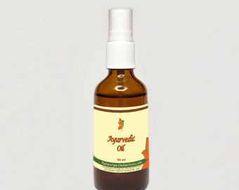 Organic Ayurvedic Oil for hair treatment in case of hair fall and hair loss with Castor Oil, Amla and Shikakai