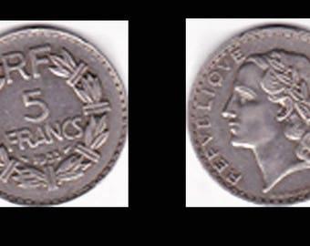 piece 5 FRANCS 1933 - (ref A45)