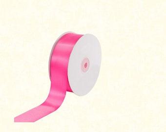 """25 Yards: 1.5"""" Hot Pink Satin Ribbon"""