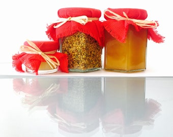 A Selection of Organic Fresh Royal Jelly, Bee Pollen and Honey
