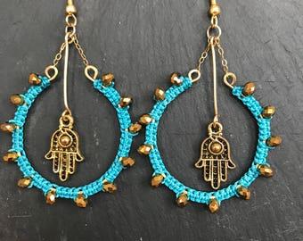 bollywood hamsa earrings
