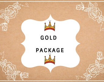 Gold custom shoe package