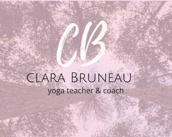 Premade logo for yoga teachers and spiritual entrepreneurs, pre-made logo, logo design, blog header design, logo for blogger and coaches