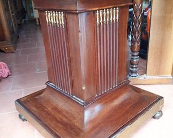 Wood Inlaid Walnut Column 40 years