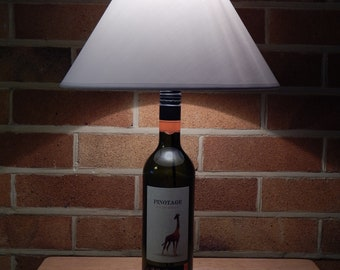 Upcycled Wine Bottle Table Lamp