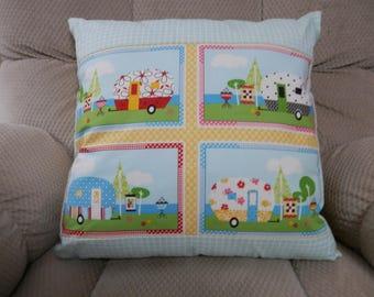 Happy Camper Decorative Pillow