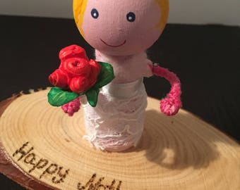 Personalised hand made cake topper /  gift