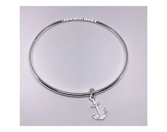 Sterling silver 925 anchor bangle