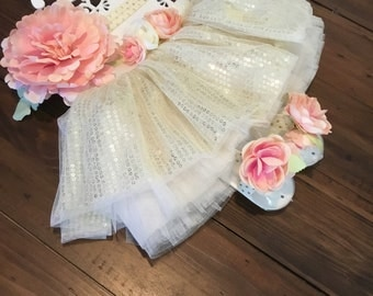 Beautiful tutu set 0-12 months