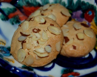 Amygdalota Hand Made Traditional Greek Almond Cookies