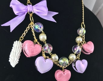 Heart Macaron Chain Necklace
