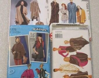 Coats, Capes, Jackets, Shawls & Vest, Misses' sizes 6 to 26 - UNCUT