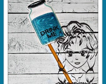 DRINK ME Shrinking Alice Holiday Party PHoTO PRoP 4 Parties and Games ~ In the Hoop ~ Downloadable DiGiTaL Machine Emb Design by Carrie
