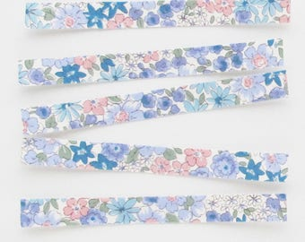 Floral Fabric Stickers | Handmade sticker strips to use for planners, collage, scrapbooking, or packaging.