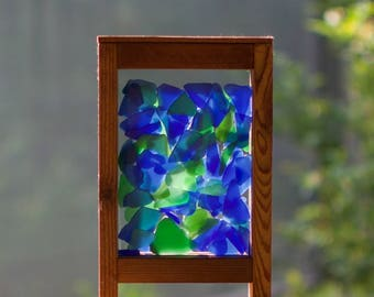 Suncatcher Freestanding Windowsill Sea Glass Color for your window