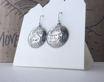"Move Mountains ""Mountain Biking / Cycling"" Mis-matched Earrings - Sterling Silver"