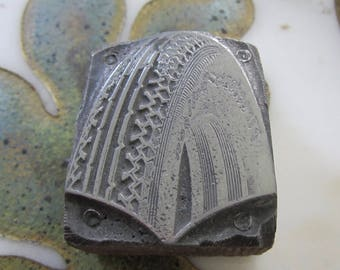 Firestone Balloon  Tire Antique Letterpress Printing Block