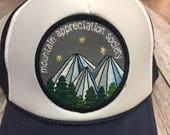 Youth Navy Trucker Hat- Mountain Appreciation Society P...