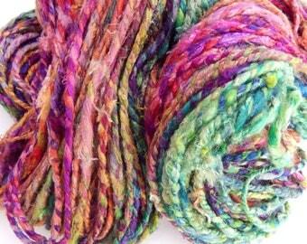 Candy Oh! 3-Handspun  Silk Yarn