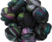 Milky Way battlings -- mini batts (2 oz.) organic polwarth wool, bamboo, silk, sparkle.