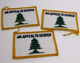 Vintage Sew on Patch - An Appeal to Heaven - One Patch