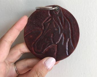 Leather Horse Keychain