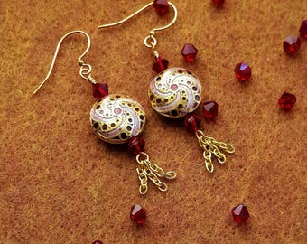 Siam Amethyst Polished Earrings