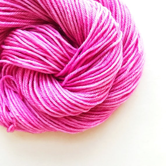 PEONY pink hand dyed yarn