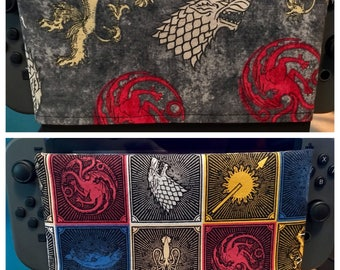 REVERSIBLE Nintendo Switch Cover - Sleeve - Dock Sock - Docking Station Cover - Game of Thrones