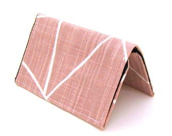 Mini Wallet / Card Holder / Business Card Holder / Card Case / Gift Card Holder/ Small Wallet - Blush Pink Shattered