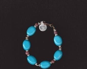 ON SALE Jasper and Turquoise Bracelet