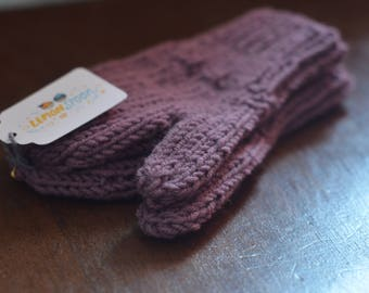 Purpley Purple Vintage Inspired 3 Year Old Mittens